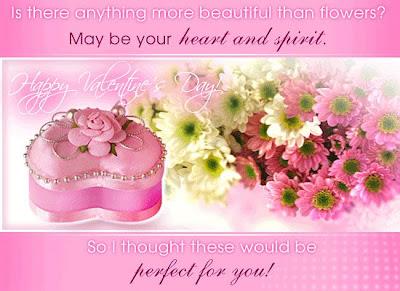 valentine day flower card