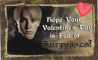 harry potter card on valentines day