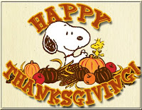 Free Snoopy's Thanksgiving Desktop Theme