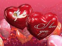 valentine heart shape balloons