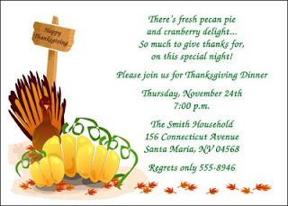 Thanksgiving Invitation Cards