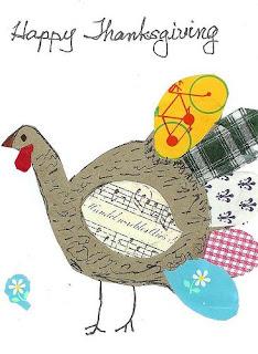 Handmade Turkey Card For Thanksgiving