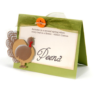 Place Cards for Thanksgiving Dinner