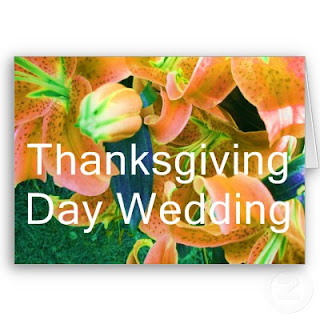 Thanksgiving Day Wedding