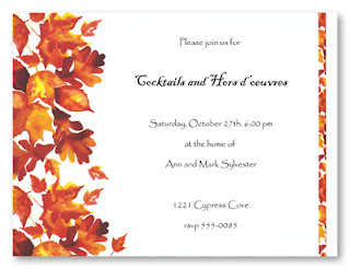 Thanksgiving Wedding Invitation Card