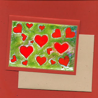 Valentines Day Heart Note Card