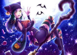 cute cartoon witch wallpaper
