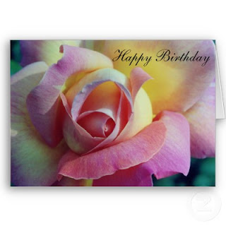 Happy Birthday Rose Greeting Cards