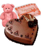 chocolate cake card for valentine