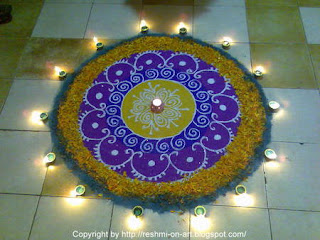 Colourful Flower Rangoli Wallpapers