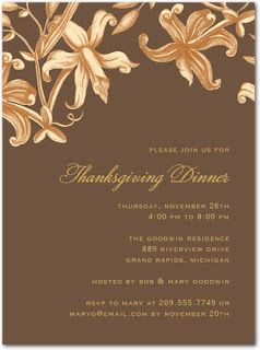 Thanksgiving Dinner Party Cards