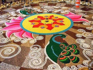 Colorful Diwali Rangoli Cards