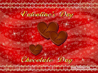 chocolate cards for valentine day