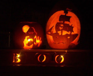 Pirates of Caribbean Halloween Theme Cards