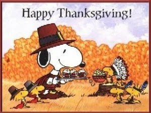 Snoopy Thanksgiving Wish Cards