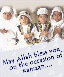 Kids Wishing Happy Ramadan