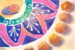 diwali rangoli painting