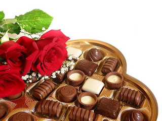 valentine chocolate card