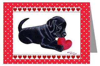 Valentine Labrador Card