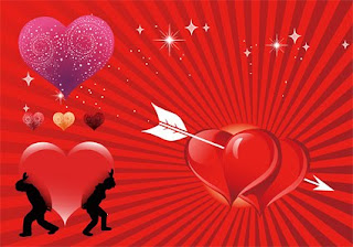 Glittering Valentine Background Card