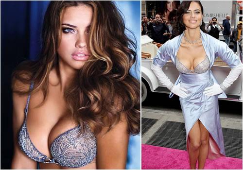 Victoria Secret Models Without Push Up Bras The million dollar bra