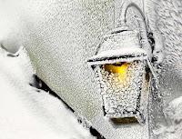 зима, фонарь