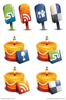 Новогодние feed-иконки