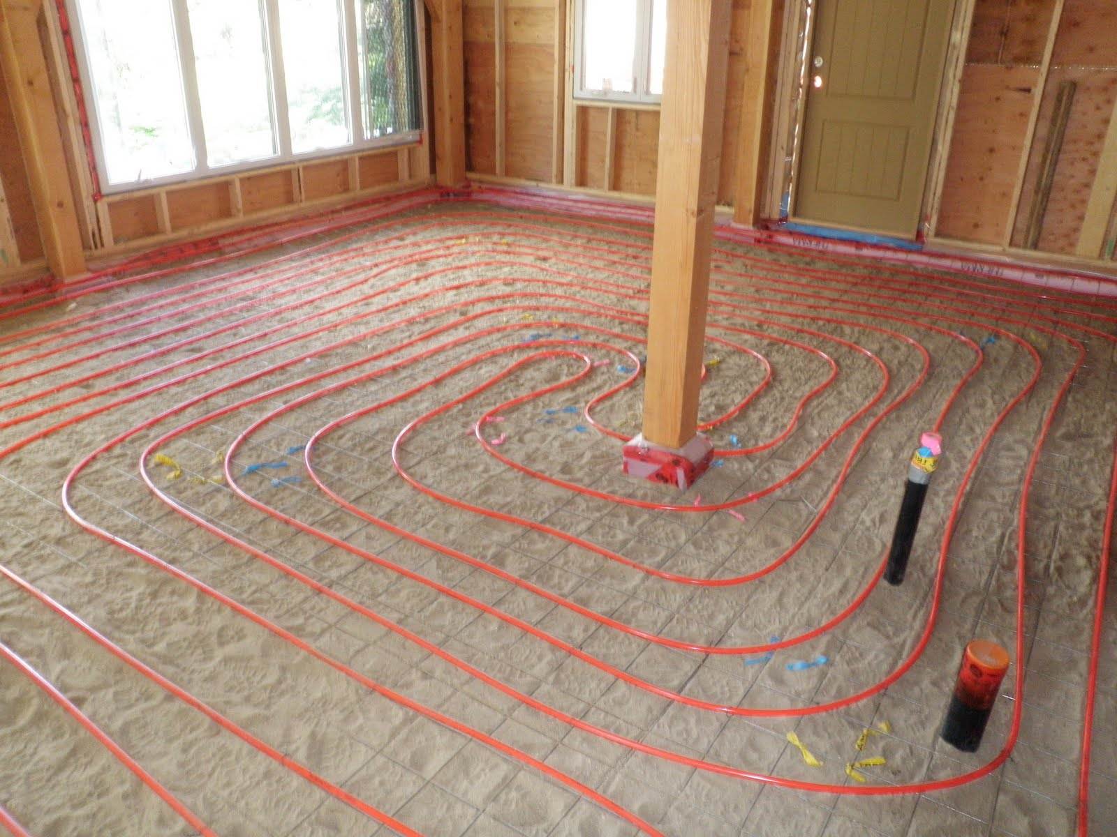 Kootenay house radiant floor heating Radiant floors