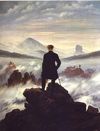 Der Wanderer über dem Nebelmeer. Caspar David Friedrich (1818)