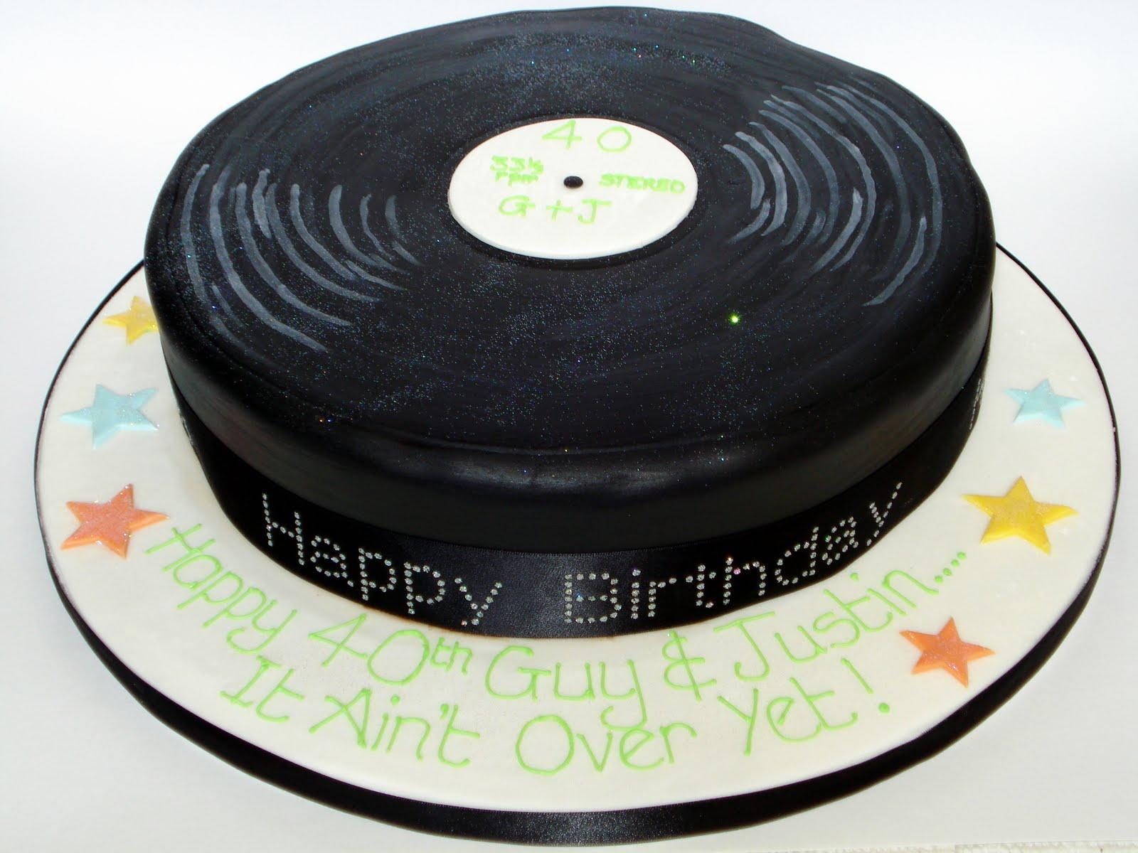 Custom Cake Design 12 Inch Record Cake