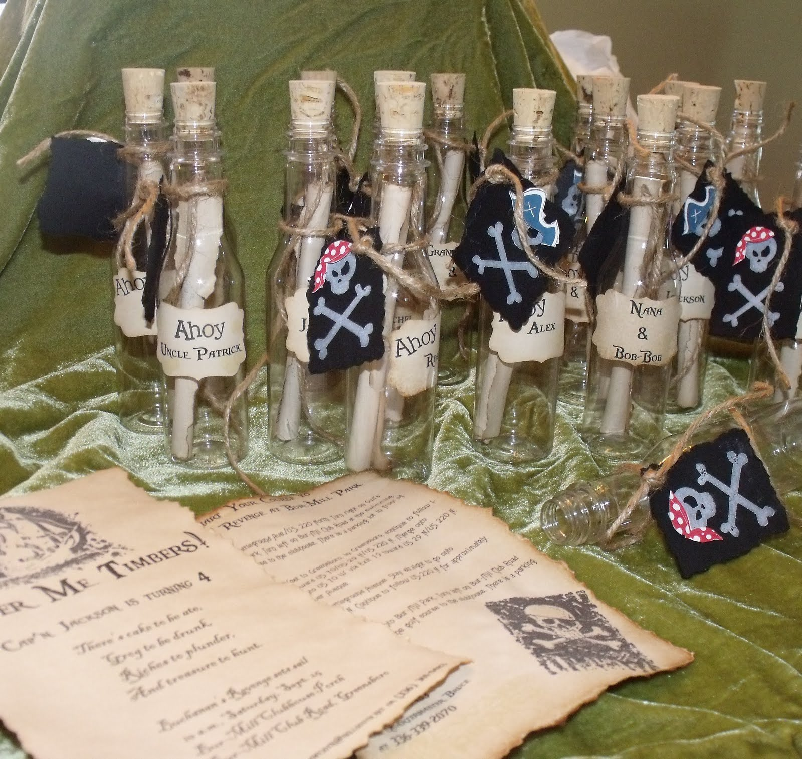 Pirate Party Invitations In A Bottle erp tester sample resume – Message in a Bottle Party Invitations