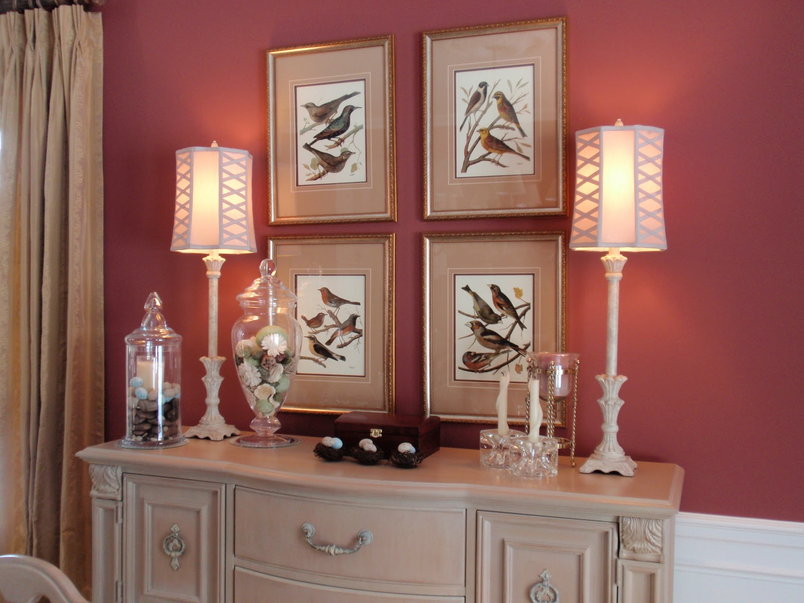 Over The Weekend I Updated My Dining Room Vignettes