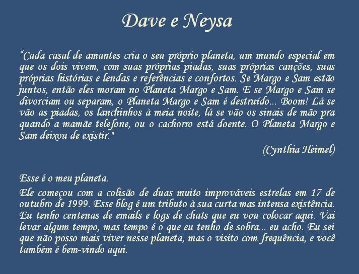 Dave e Neysa
