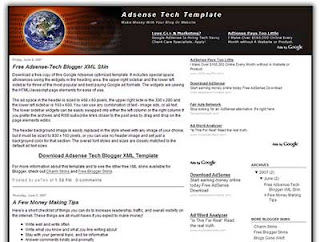 Adsense Tech Blogger Template