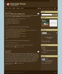 Chocolate 2 Column Blogger Template