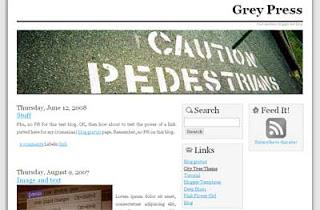 Blogger Templates : Grey Press