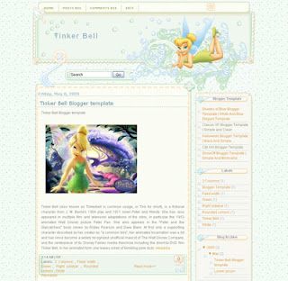 Tinker Bell Blogger Template | Anime Blogger Template