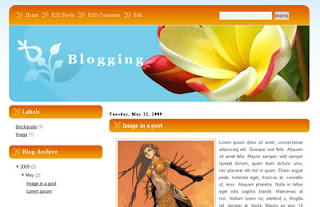 Blogging Blogger Template | Orange Style