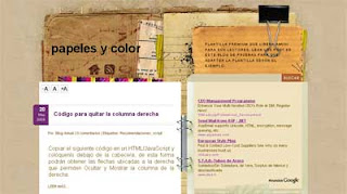 Anime Blogger Template Papeles y color