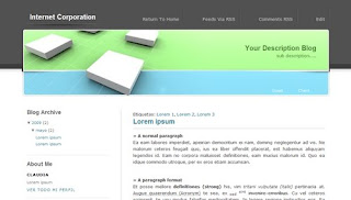 Blogger Templates : Internet Corporation