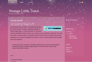 Strange Little Town Blogger Template