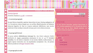 Paper Girl Blogger Template