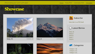 Showcase Gallery Blogger Template