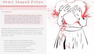 Heart Shaped Pillow Blogger Template