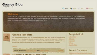 Grunge Blog Blogger Template