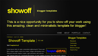 Showoff Blogger Template