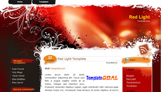 Blogger Template Red Light