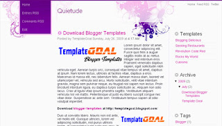 Blogger Template Quietude