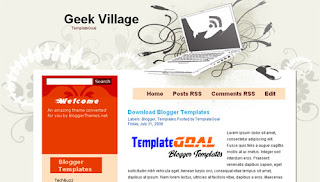 Geek Village - Vector Blogger Template