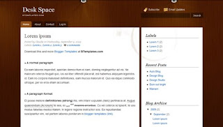 Desk Space Blogger Template